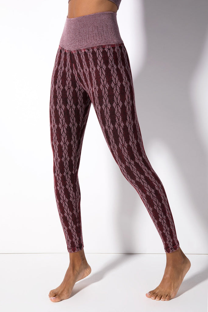 Fair Isle Legging in Vintage Acai