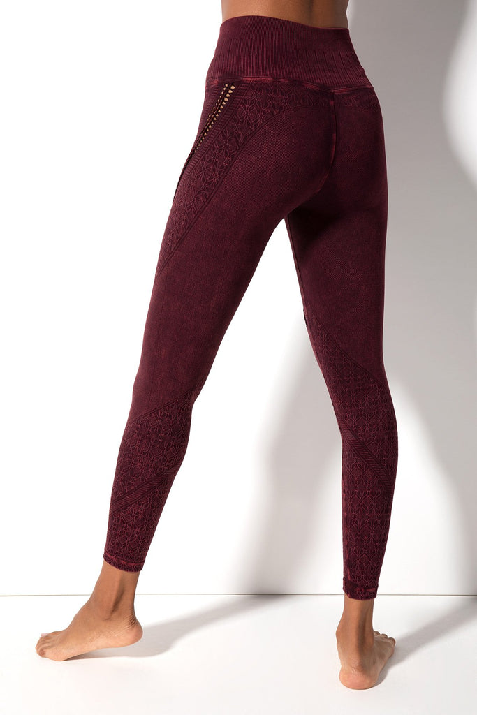 Lara Braid Legging in Vintage Acai