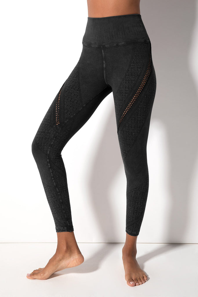 Lara Braid Legging in Vintage Black