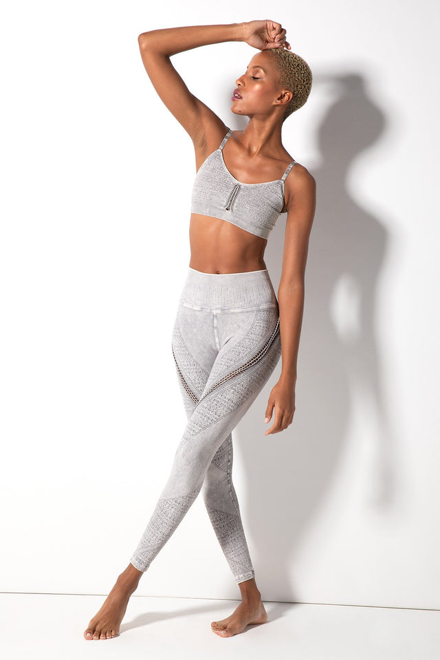 Lara Braid Legging in Vintage Cool Grey