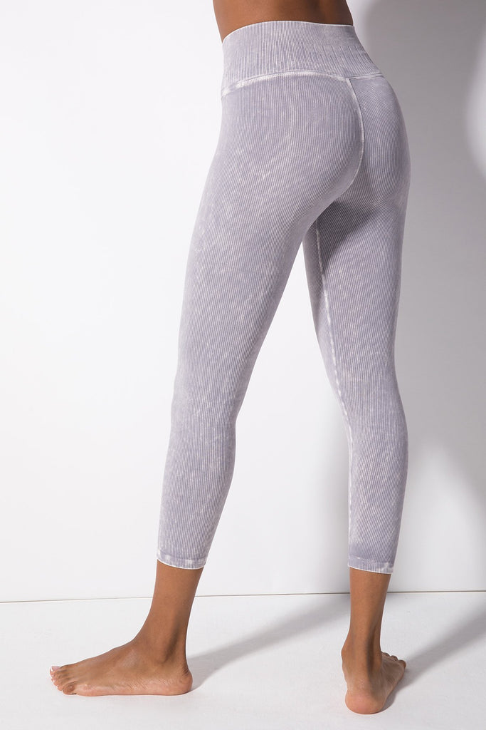 Renee 7/8 Rib Legging in Vintage Cool Grey