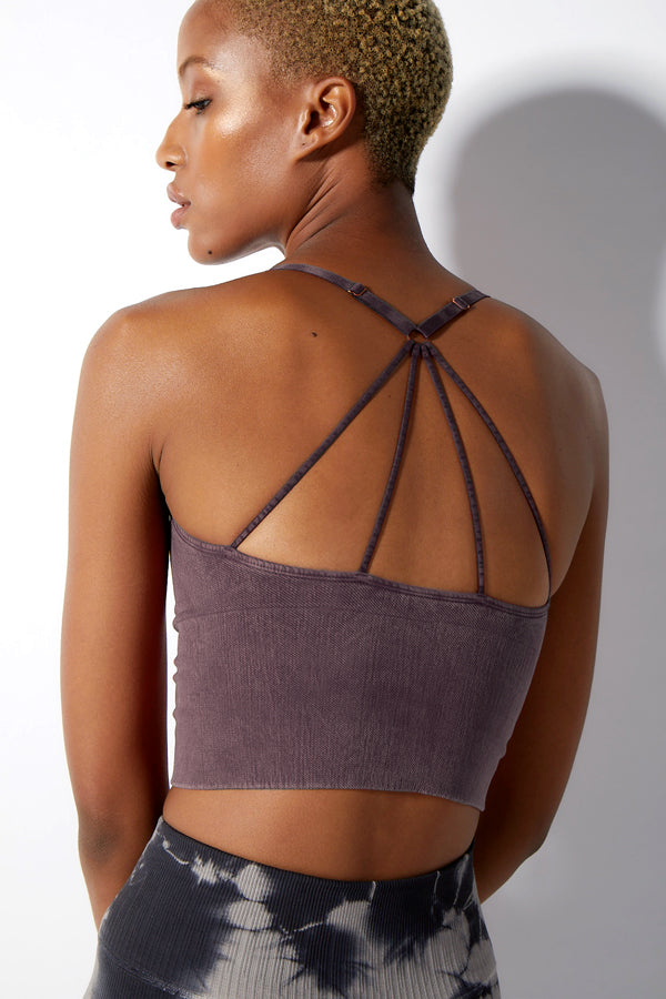 Winter Stella Strappy Crop Bra in Vintage Huckleberry