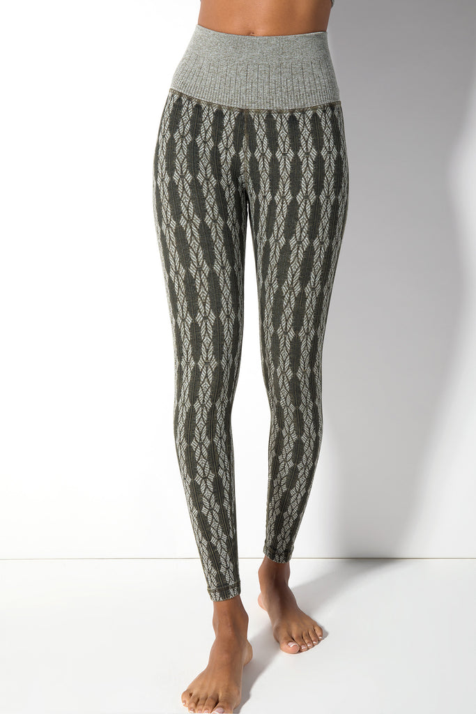 Fair Isle Legging in Vintage Olive Night