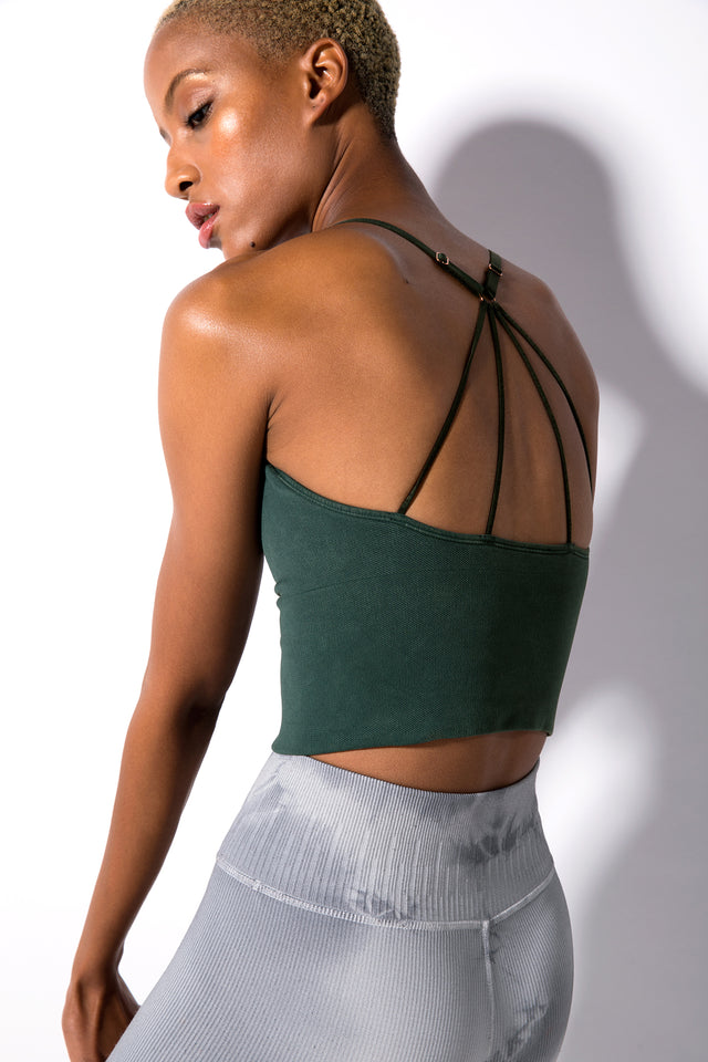 Winter Stella Strappy Back Bra in Vintage Ponderosa Pine