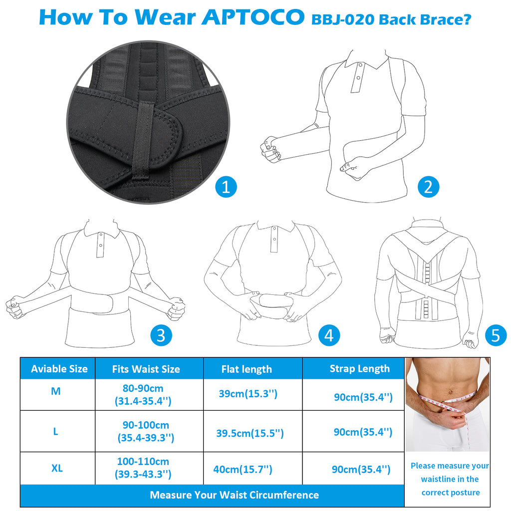 How To Wear APTOCO BBJ-020 Back Brace