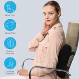 Memory Foam Lumbar Support Pillow Seat Cushion  Office Chair Car Seat
