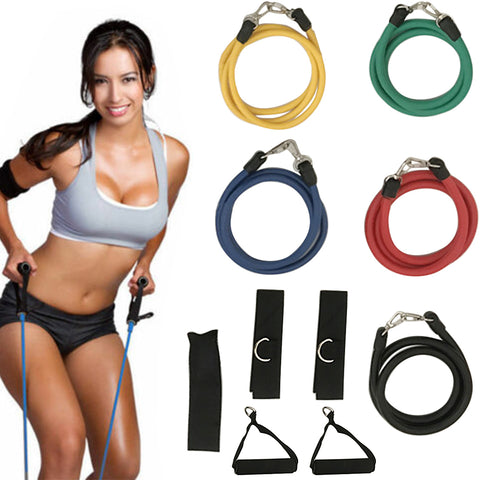 11 In Kit Upgrade Resistance Loop Bands Home Exercise Sports Fitness SP