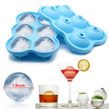 6 Holes Food Grade Soft Silicone Homemade Ice Cube Tray Ball Maker SP