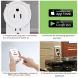 Wifi Remote Control Intelligent White Socket For Google Home Alexa