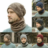 Winter Warm Knit Beanie Hat And Scarf Kit Fashion Plush Skin-friendly SP