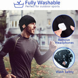 Wireless Bluetooth Beanie Winter Warm Hat Sport Music Headphones