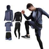 Men Sportswear Compression Sport Suits Quick Dry Running Sets Clothes SP