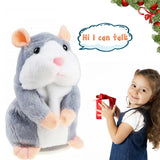 Talking Hamster Electronic Plush Mouse Pet Speak Sound Record Toy