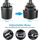 360 Degree Rotation Rechargeable Car Phone Holder 3.5 Inches Wide