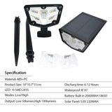 2 Pack Solar Landscape Spotlights IP67 Waterproof Solar Powered Lights SP
