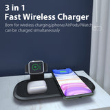 15W 3 In 1 Fast Wireless Charger For Iphone 12 iWatch AirPords SP