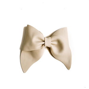 Wren// Ivory Leather Bow