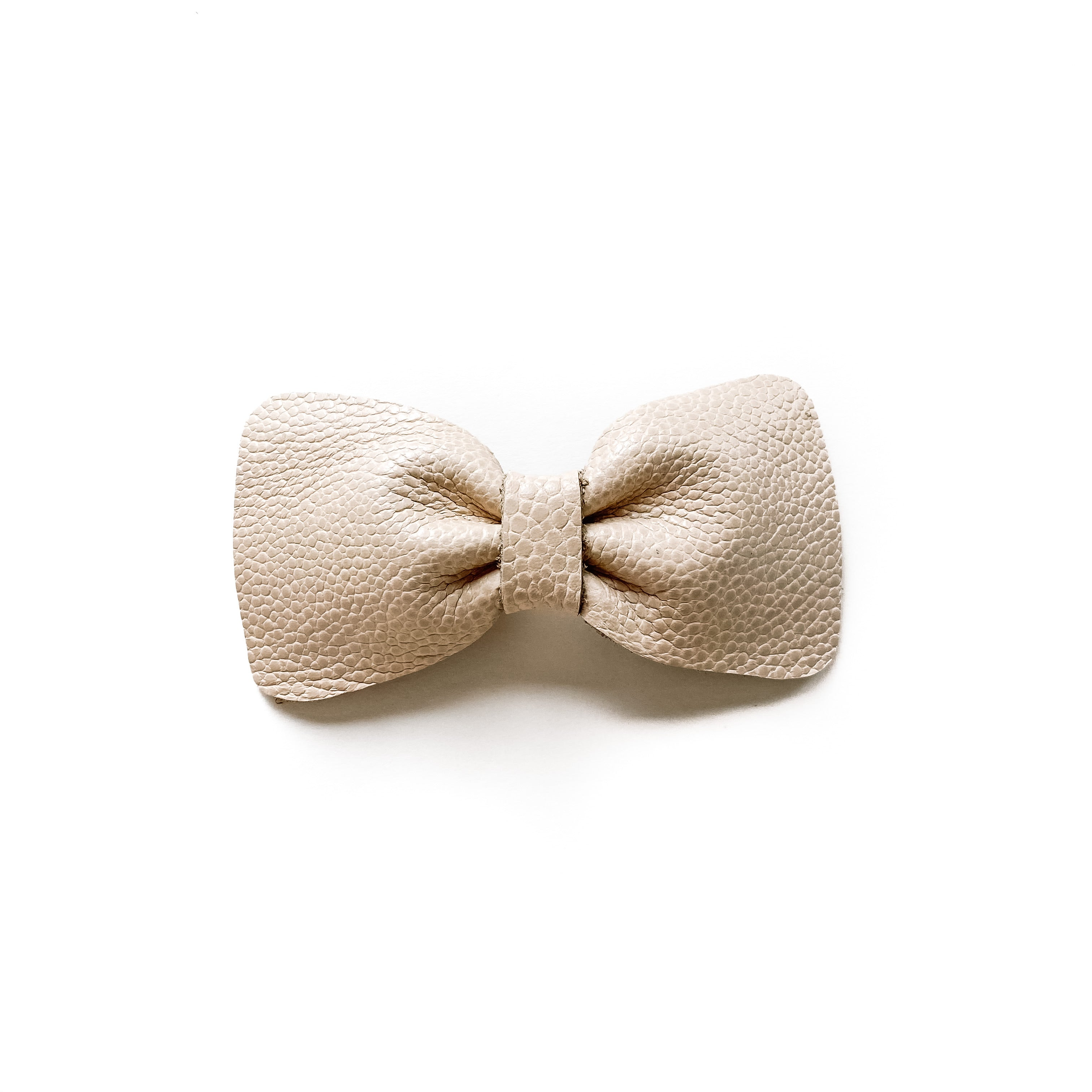 June// Ivory Leather Bow