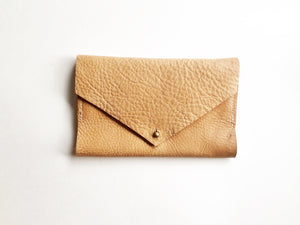 Minimalist wallet // Milled Veg tan