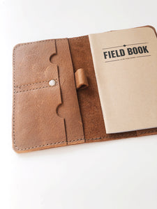 Leather field book journal