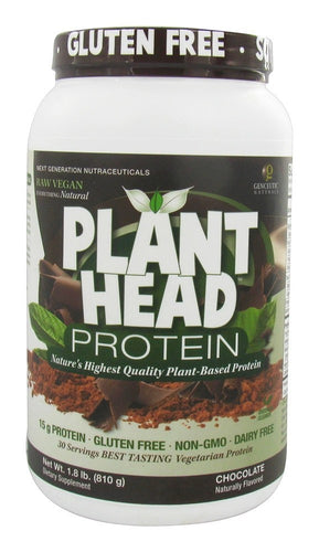Genceutic Naturals PlantHead Protein Chocolate - 1.7 lb