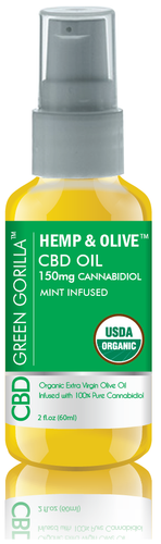 Green Gorilla CBD Oil Mint 150 mg 2 OZ