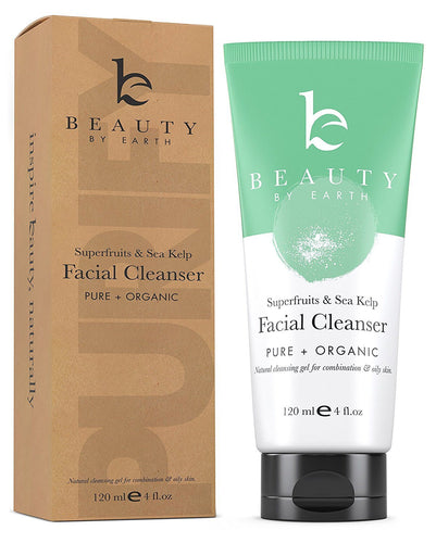 Beauty - Facial Cleanser Wash - Organic & Natural Gel By Beauty By Earth