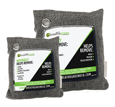 Breathe Green Chracoal Bag