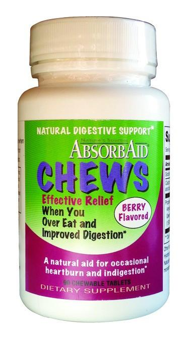 Dietary Supplement - Absorbaid Chews Digestive Enzyme Formula 90 TAB