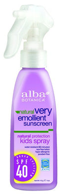 Dietary Supplement - Alba Botanica Kids SPF40 Sunscreen Spray 4 OZ