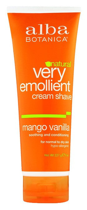 Dietary Supplement - Alba Botanica Mango Vanilla Shave Cream 8 OZ