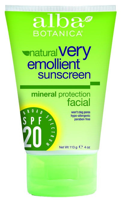 Dietary Supplement - Alba Botanica Mineral Sunscreen Facial SPF20 4 OZ