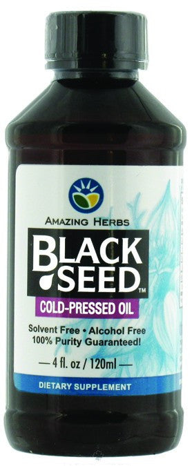 Dietary Supplement - Amazing Herbs Black Seed Oil (Cumin) 4 OZ