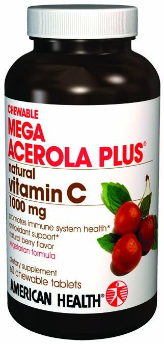 Dietary Supplement - American Health Mega Acerola Plus 1000mg 60 Wafers