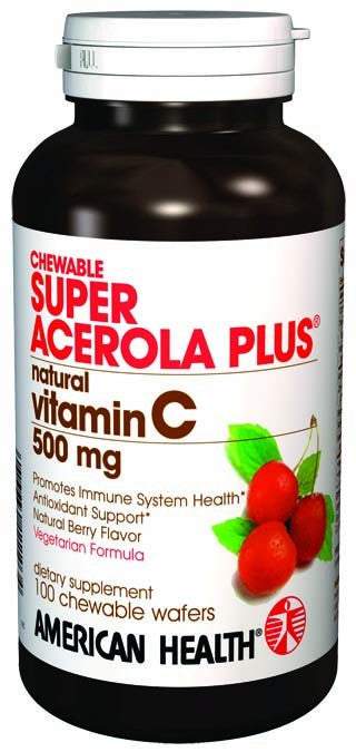 Dietary Supplement - American Health Super Acerola Plus 500mg 100 Wafers