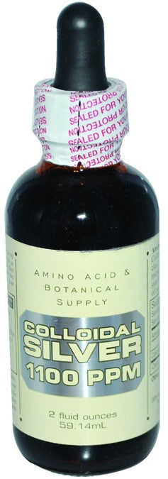 Dietary Supplement - Amino Acid & Botanical Colloidal Silver 1100ppm 2 OZ