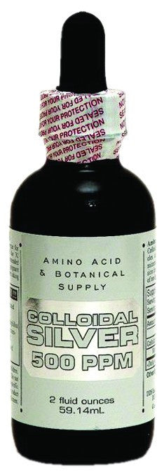 Dietary Supplement - Amino Acid & Botanical Colloidal Silver 500ppm 2 OZ