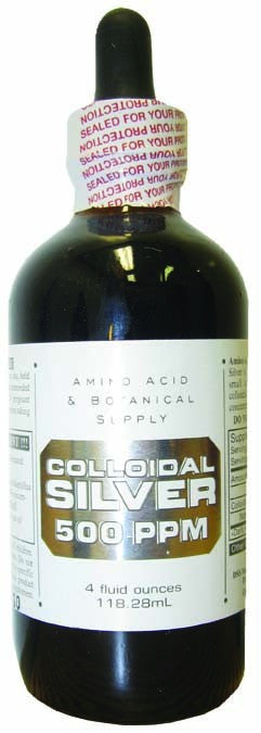 Dietary Supplement - Amino Acid & Botanical Colloidal Silver 500ppm 4 OZ