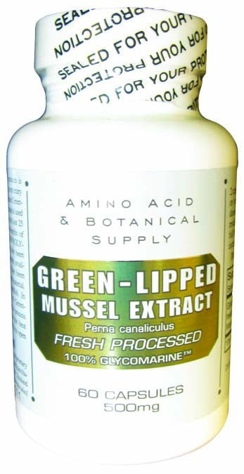 Dietary Supplement - Amino Acid & Botanical Green-Lipped Mussel Extract 500mg 60 CAP