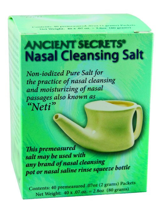 Dietary Supplement - Ancient Secrets Nasal Cleansing Salt Packets 40 PKT