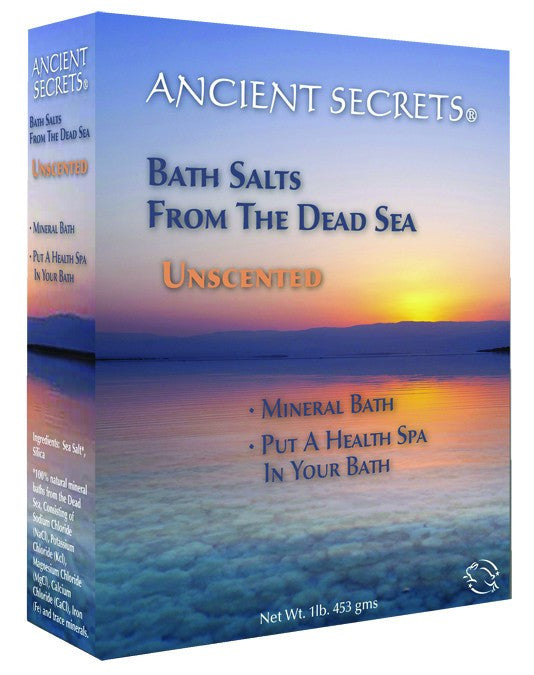 Dietary Supplement - Ancient Secrets Unscented Dead Sea Bath Salts 1 LB