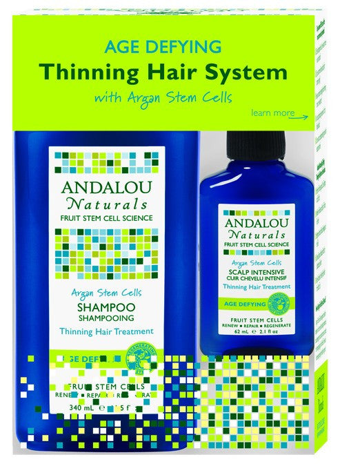 Dietary Supplement - Andalou Naturals Age Defying Hair Treatment System 3 PC