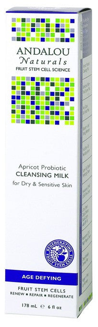 Dietary Supplement - Andalou Naturals Apricot Probiotic Cleansing Milk 6 OZ