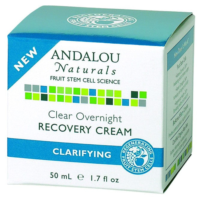 Dietary Supplement - Andalou Naturals Clear Overnight Recovery Cream 1.7 OZ