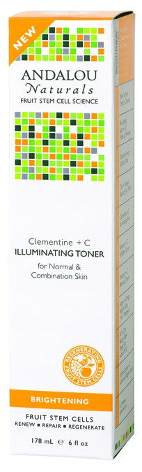 Dietary Supplement - Andalou Naturals Clementine + C Illuminating Toner 6 OZ