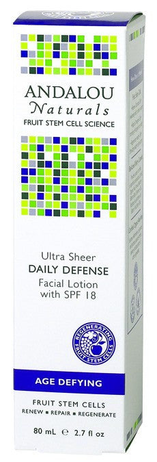 Dietary Supplement - Andalou Naturals Daily Defense SPF 18 Facial Lotion 2.7 OZ