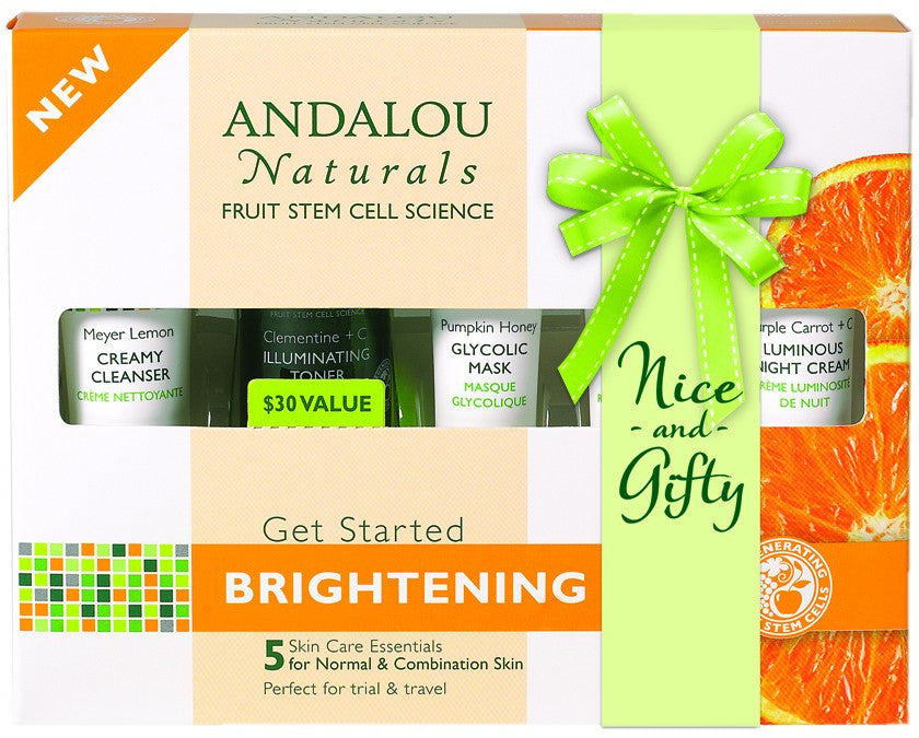 Dietary Supplement - Andalou Naturals Get Started Brightening Kit 5 PC