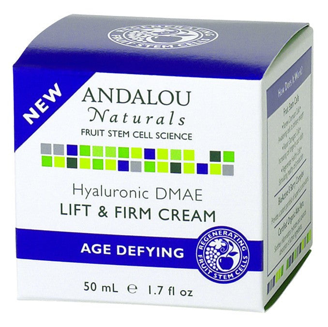 Dietary Supplement - Andalou Naturals Hyaluronic DMAE Lift & Firm Cream 1.7 OZ