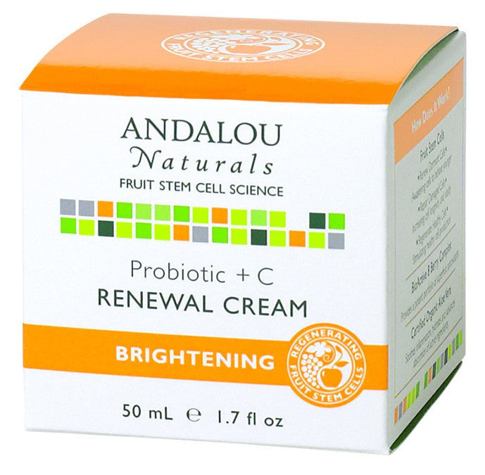 Dietary Supplement - Andalou Naturals Probiotic + C Renewal Cream 1.7 OZ