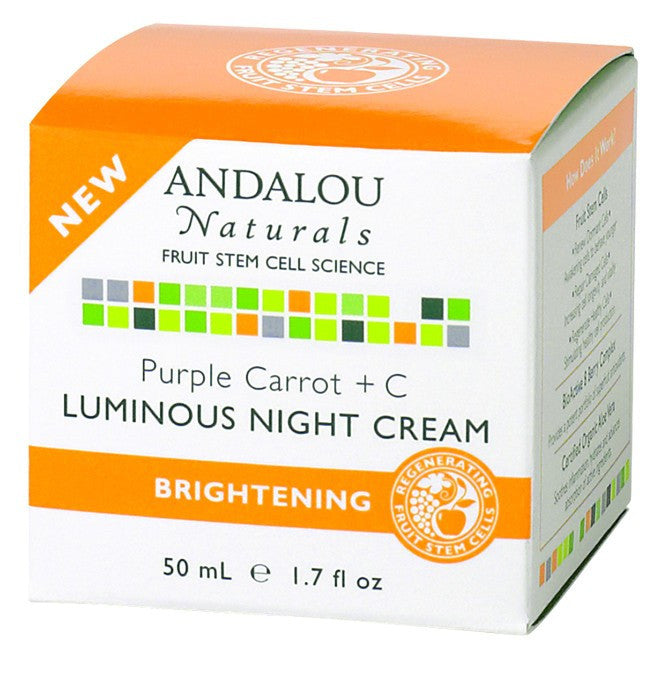Dietary Supplement - Andalou Naturals Purple Carrot Luminous Night Cream 1.7 OZ